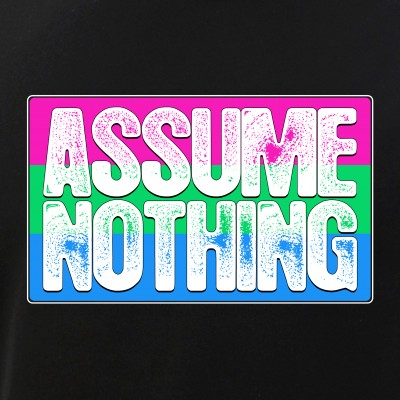 Assume Nothing Polysexual Pride Flag