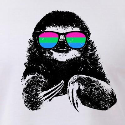 Pride Sloth Polysexual Flag Sunglasses