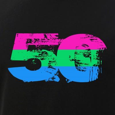 Polysexual Grunge 50 Pride Flag