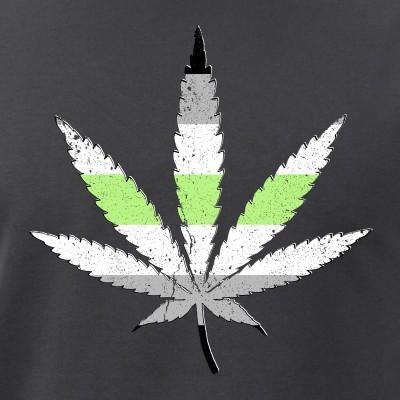 Agender Pride Flag Marijuana Pot Leaf