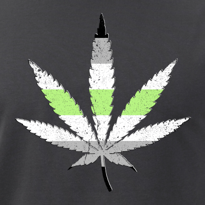 Agender Pride Flag Marijuana Pot Leaf