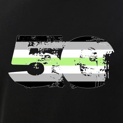 Agender Grunge 50 Pride Flag