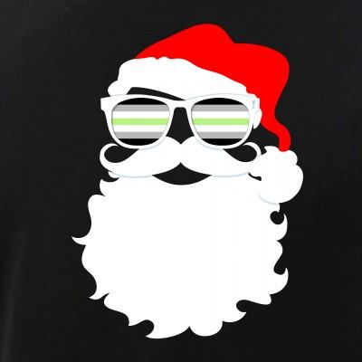 Cool Santa Claus Agender Pride Flag Sunglasses