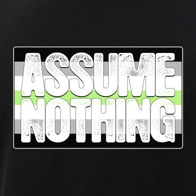 Assume Nothing Agender Pride Flag