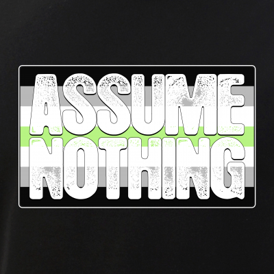 Assume Nothing Agender Pride Flag