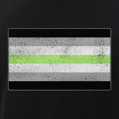 Distressed Agender Pride Flag