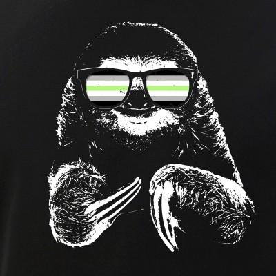 Pride Sloth Agender Flag Sunglasses
