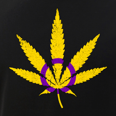 Intersex Pride Flag Marijuana Pot Leaf