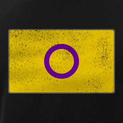Distressed Intersex Pride Flag