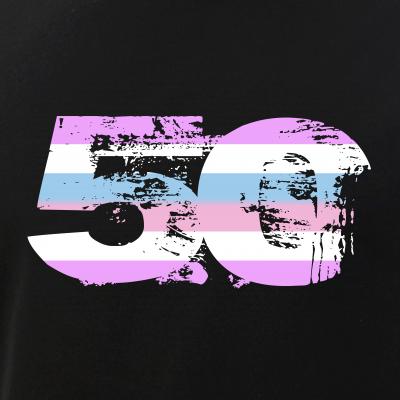 Bigender Grunge 50 Pride Flag