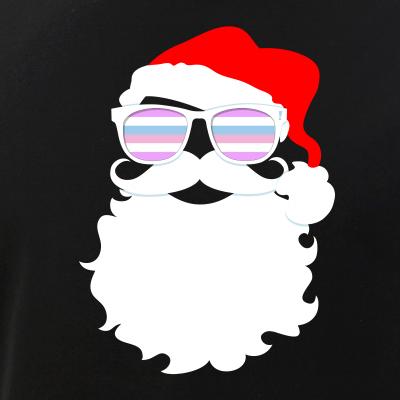 Santa Claus Bigender Pride Flag Sunglasses