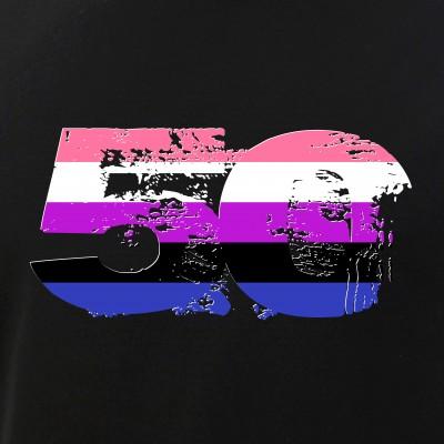 Genderfluid Grunge 50 Pride Flag