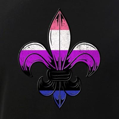 Genderfluid Pride Flag Fleur de Lis