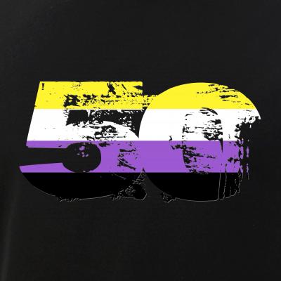 Nonbinary Grunge 50 Pride Flag