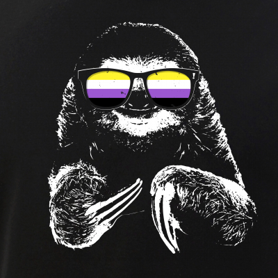 Pride Sloth Nonbinary Flag Sunglasses