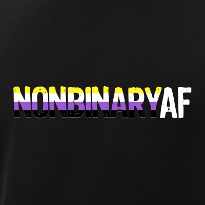 NONBINARY AF Nonbinary as Fuck Non-Binary Pride Flag
