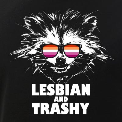 Lesbian and Trashy Raccoon Sunglasses Lesbian Pride