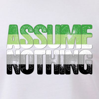 Assume Nothing Aromantic Pride
