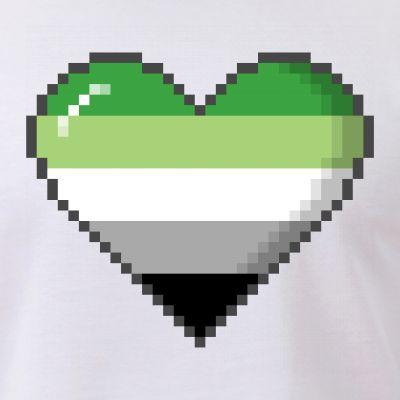 Aromantic Pride 8-Bit Pixel Heart
