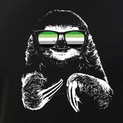Pride Sloth Aromantic Flag Sunglasses