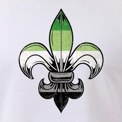 Aromantic Pride Flag Fleur de Lis