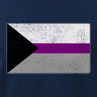 Distressed Demisexual Pride Flag
