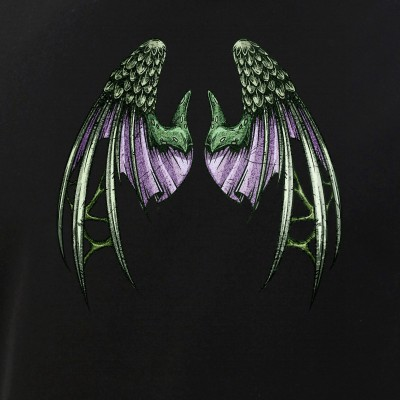 Distressed Green and Purple Dragon Wings
