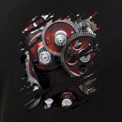 Engine Gears Robot Costume Ripped