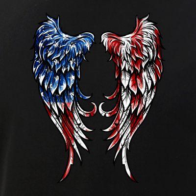 Distressed American Flag Angel Wings