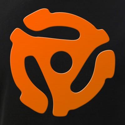 Orange 45 RPM Adapter