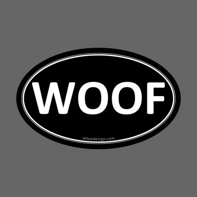 WOOF Black Euro Oval