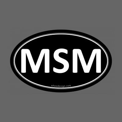MSM Black Euro Oval