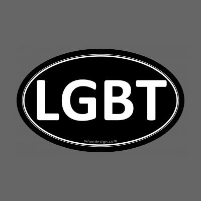 LGBT Black Euro Oval