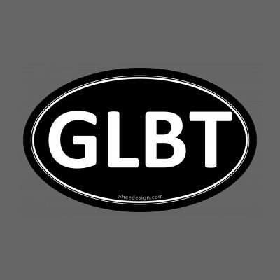 GLBT  Black Euro Oval