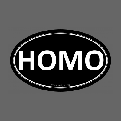 HOMO Black Euro Oval