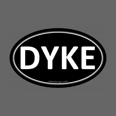 DYKE Black Euro Oval