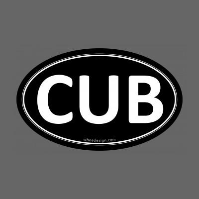 CUB Black Euro Oval