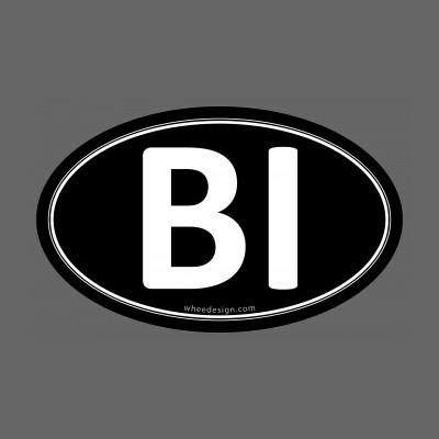 BI Black Euro Oval