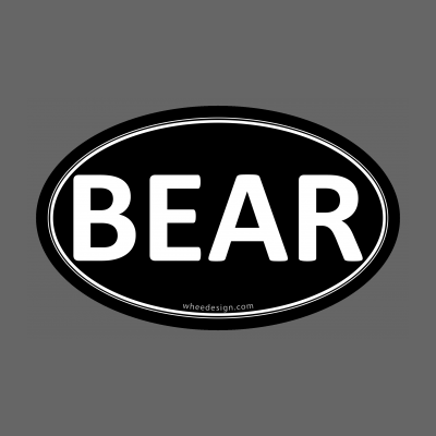 BEAR Black Euro Oval