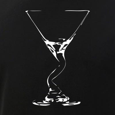 Bent Martini Glass