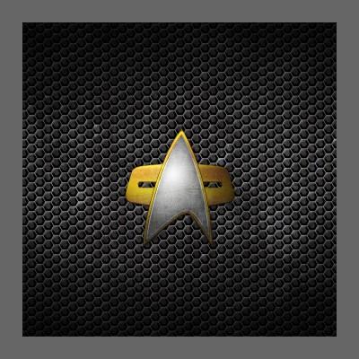 Grunge Starfleet Combadge