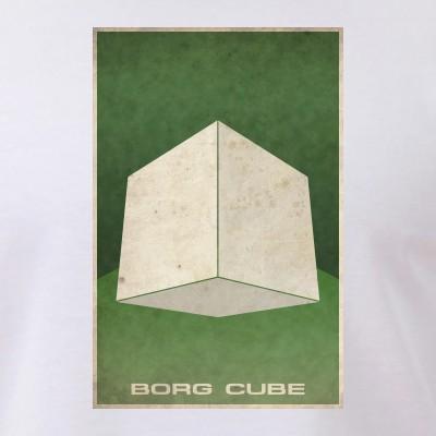 Minimal Borg Cube Poster Design