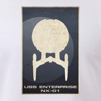 Minimal USS Enterprise NX-01Poster Design