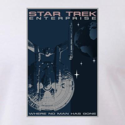Retro Star Trek: Enterprise Poster