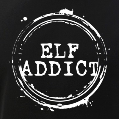 Elf Addict Stamp