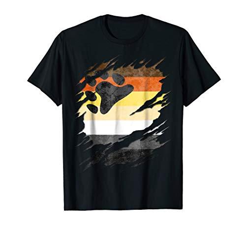Gay Bear Pride Flag Ripped T-Shirt