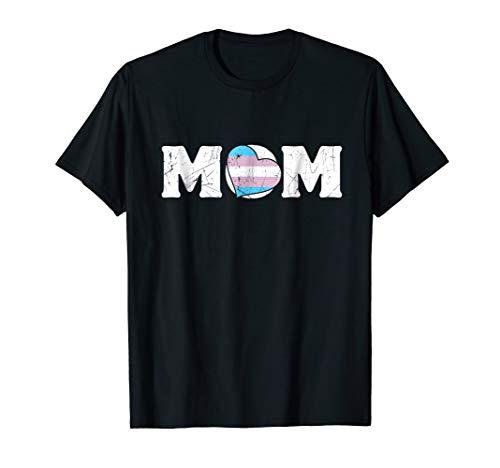 Transgender Pride Flag Heart Mom T-Shirt