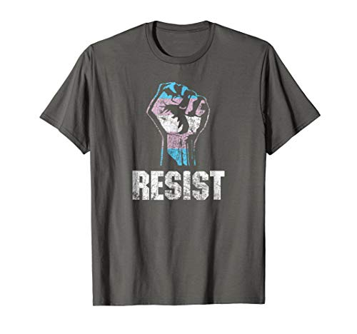 Transgender Pride Flag Resist T-Shirt