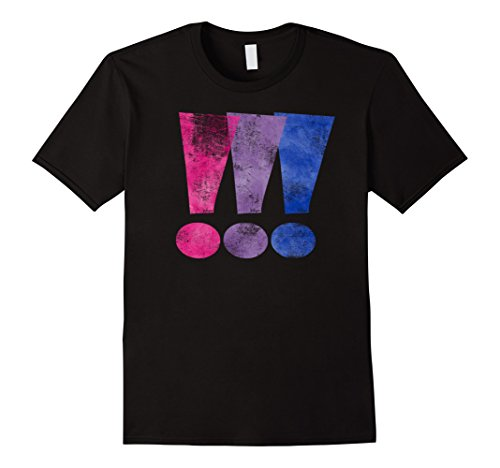 Distressed Bisexual Pride Exclamation Point Graphic T-Shirt
