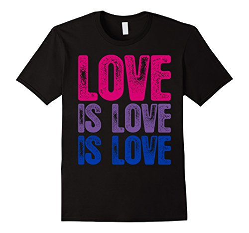 Love is Love is Love Bisexual Pride T-Shirt